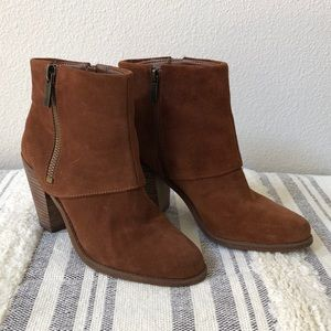 Jessica Simpson Brown Suede Booties